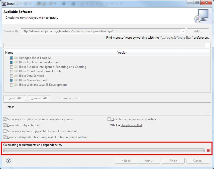 Installation of JBoss Tools plugin into Eclipse